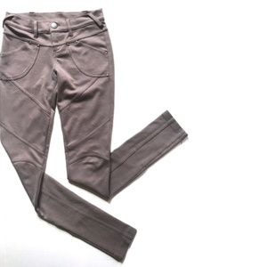 Free People Taupe Moto Stretch Skinny Pants 29